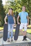 Skateboard kids stock photo