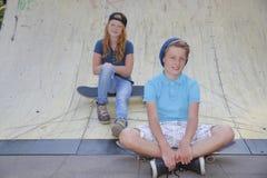Skateboard kids royalty free stock images
