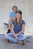 Skateboard kids royalty free stock photo