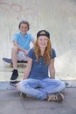 Skateboard kids stock photos