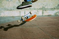 Skateboard-leichter Schlag Stockbilder
