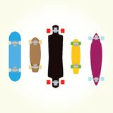 Skateboard and long board shapes isolated vector Stock Photo