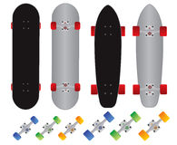 Skateboard and longboard custom vector vector illustration