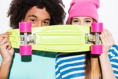 Skateboard lovers. Stock Photo