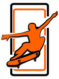 Skateboard man logo Stock Photo