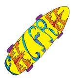 Skateboard met gevoels vrije decoratie Royalty-vrije Stock Foto's
