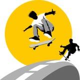 Skateboard moon Stock Photos
