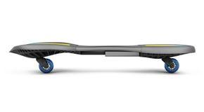 Skateboard op witte achtergrond wordt geïsoleerd die 3d geef image Stock Foto's