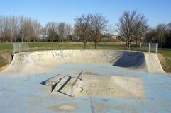 Skateboard Park. Skateboard slopes in public park Royalty Free Stock Photos