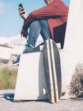 Skateboard park boy Stock Image