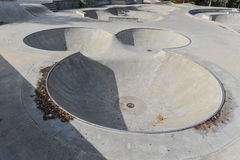 Skateboard park with a mouse head area Royalty Free Stock Photos