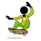 Skateboard player icon royalty free illustration