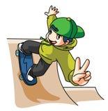 Skateboard Player Stock Photo