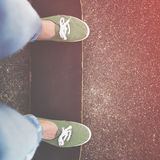 Skateboard Playing Standing Lifestyle Relaxing Concept Stock Photography