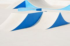 Skateboard Ramps Stock Photo