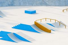 Skateboard Ramps Royalty Free Stock Images