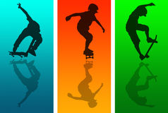 Skateboard Reflections Royalty Free Stock Images