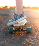 Skateboard on the road Royalty Free Stock Image