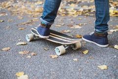 Skateboard running Stock Images