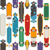 Skateboard Seamless Pattern Background Stock Image