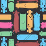 Skateboard Seamless Pattern Background Royalty Free Stock Photography