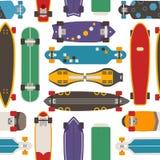 Skateboard Seamless Pattern Background Stock Photography