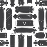 Skateboard Seamless Pattern Background Royalty Free Stock Photos