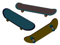 Skateboard set Royalty Free Stock Photos