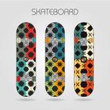Skateboard set. Energy. Set of drawings on a skateboard Royalty Free Stock Image
