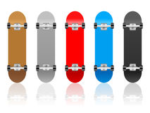 Skateboard set Royalty Free Stock Photography