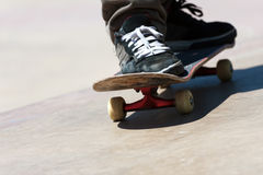 Skateboard Shoes Close Up Royalty Free Stock Photos
