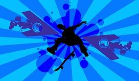 Skateboard silhouette Stock Image