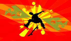 Skateboard silhouette Royalty Free Stock Photo