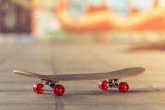Skateboard in the skate park Stock Photo