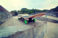 Skateboard at skatepark ready for riding Royalty Free Stock Photo