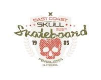 Skateboard skull emblem Royalty Free Stock Photography