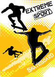Skateboard sport on grunge background Royalty Free Stock Photo