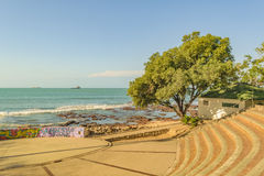 Skateboard Stadium in front of Sea Fortaleza Brazil Stock Photos