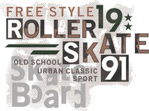 Skateboard Text Design Royalty Free Stock Photo