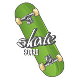 Skateboard with text. (place for your text), vector illustration Stock Image