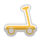 Skateboard toy isolated icon Royalty Free Stock Images