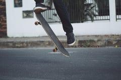 Skateboard-Trick Stockfoto