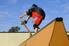 Skateboard tricks. Skateboard jumps Royalty Free Stock Image