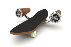 skateboard turbo Arkivbild