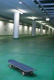 Skateboard in an underground parking Royalty Free Stock Photos