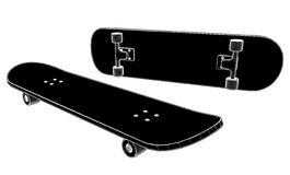 Skateboard Vector 02 Stock Images