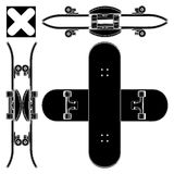 Skateboard Vector 03. Urban Street Skateboard Illustration Vector Royalty Free Stock Photography