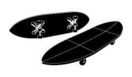 Skateboard Vector 05 Royalty Free Stock Image