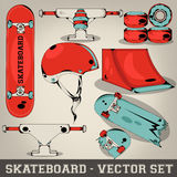 Skateboard Vector Set Stock Photos