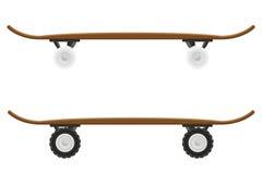 Skateboard vectorillustratie Royalty-vrije Stock Afbeeldingen